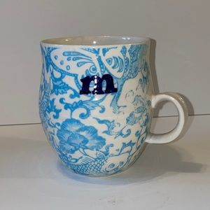 "Anthropologie initial ""M"" mug"